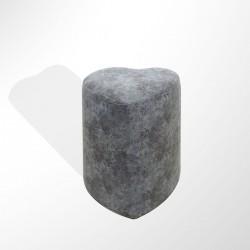 Berrado Kalp Şekilli Puf Koltuk Grey