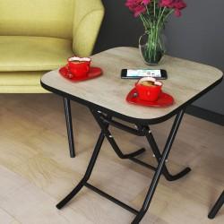 Berrado 36X45 Cm Metal Ayaklı Katlanabilir 4 Lü Masa