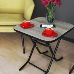 Berrado 36X45 Küçük Masa Metal Ayaklı Katlanabilir 4''Lü
