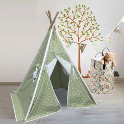 Berrado Organik Ahşap İskeletli Pencereli Çocuk Oyun Çadırı