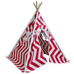 Berrado Ahşap Kızıldereli Çocuk Çadırı Oyun Evi