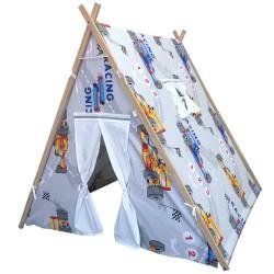 Berrado Ahşap İskeletli Organik Çocuk Oyun Evi Çadırı