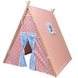 Berrado Çocuk Oyun Çadırı Ahşap İskeletli Oyun Evi